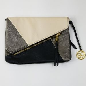 Jessica Simpson Clutch with gold hardware
